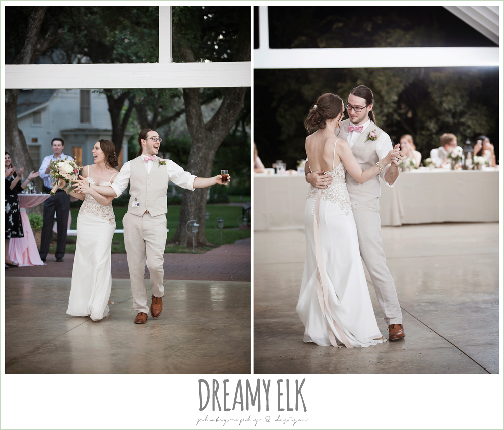 bride and groom entering reception, first dance, the winfield inn, photo {dreamy elk photography and design}