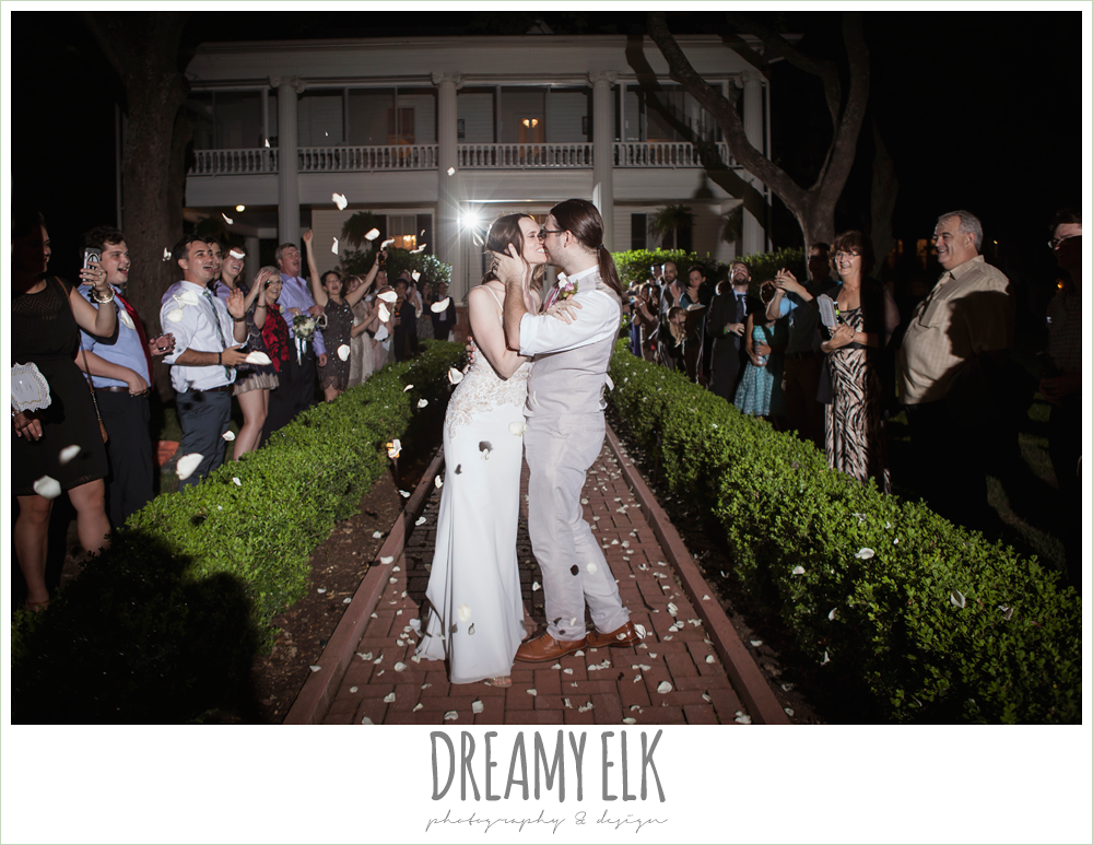 rose petal wedding send off, guests dancing at wedding reception, the winfield inn, photo {dreamy elk photography and design}