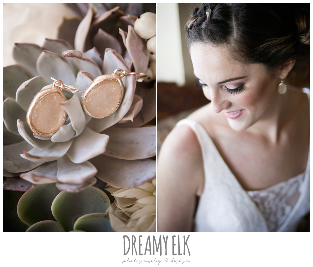wedding jewelry, bridal makeup, rustic chic wedding photo, the amish barn at edge {dreamy elk photography and design}
