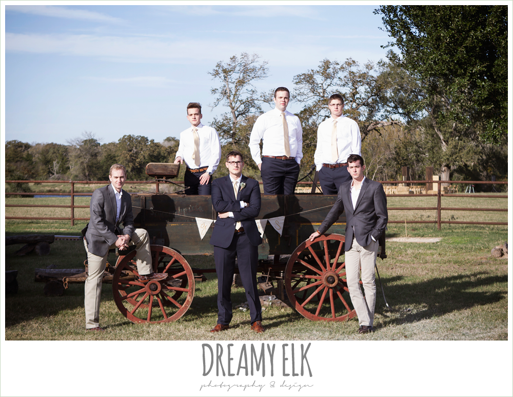 groom and groomsmen, rustic chic wedding photo, the amish barn at edge {dreamy elk photography and design}