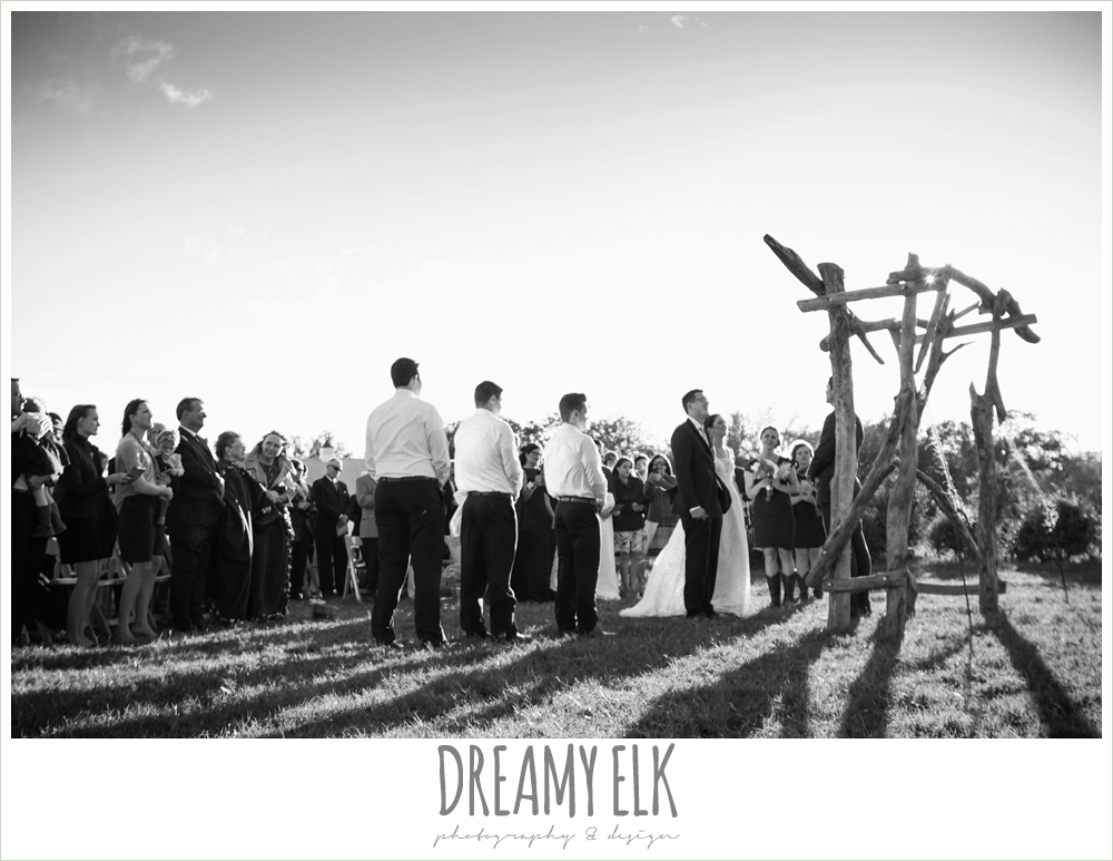 outdoor fall wedding ceremony, rustic chic wedding photo, the amish barn at edge {dreamy elk photography and design}