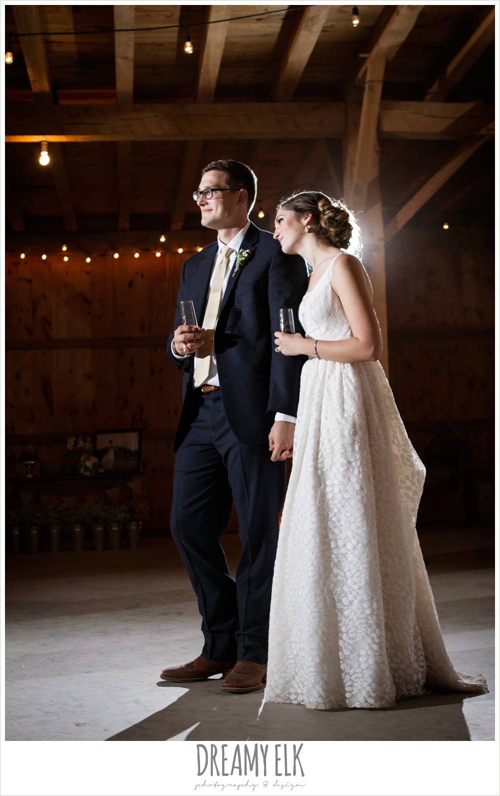 barn wedding reception, fall rustic chic wedding photo, the amish barn at edge {dreamy elk photography and design}