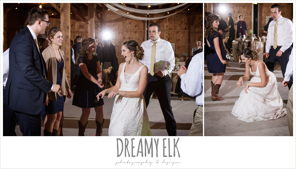bride dancing at reception, barn wedding reception, fall rustic chic wedding photo, the amish barn at edge {dreamy elk photography and design}