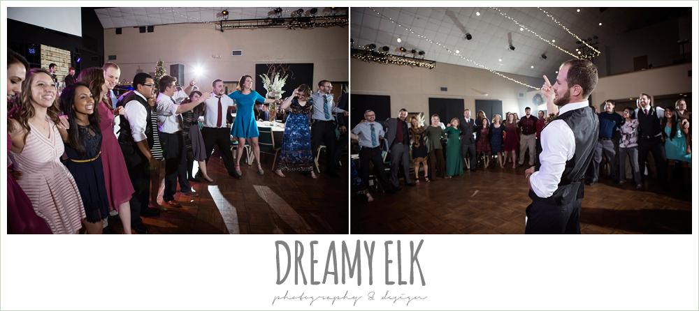 aggie war hymn at wedding reception, winter december church wedding photo {dreamy elk photography and design}