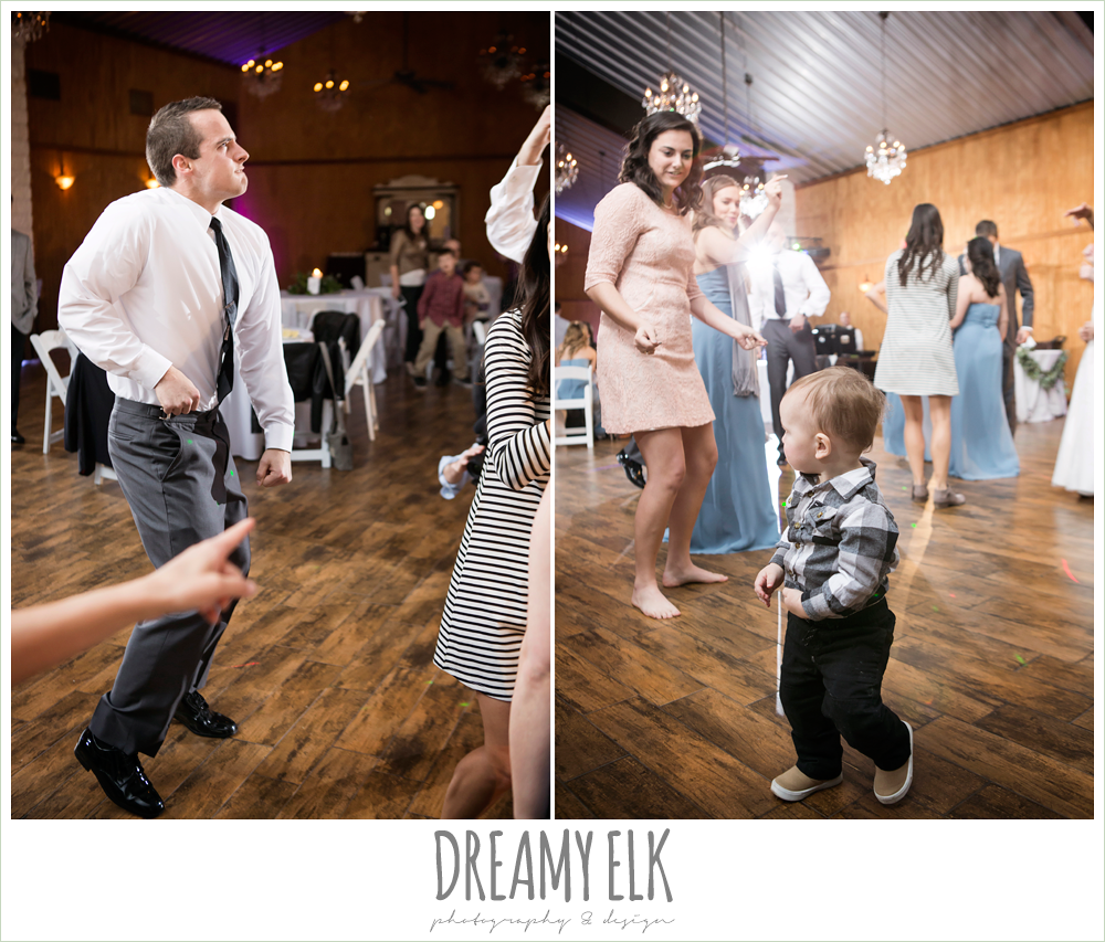 guests dancing at wedding reception, morning winter january wedding, ashelynn manor {dreamy elk photography and design}