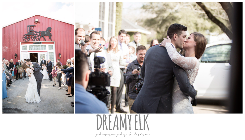 bride and groom leaving wedding, send off, reception exit, morning winter january wedding, ashelynn manor {dreamy elk photography and design}