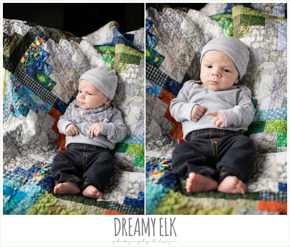 indoor one month baby boy photo