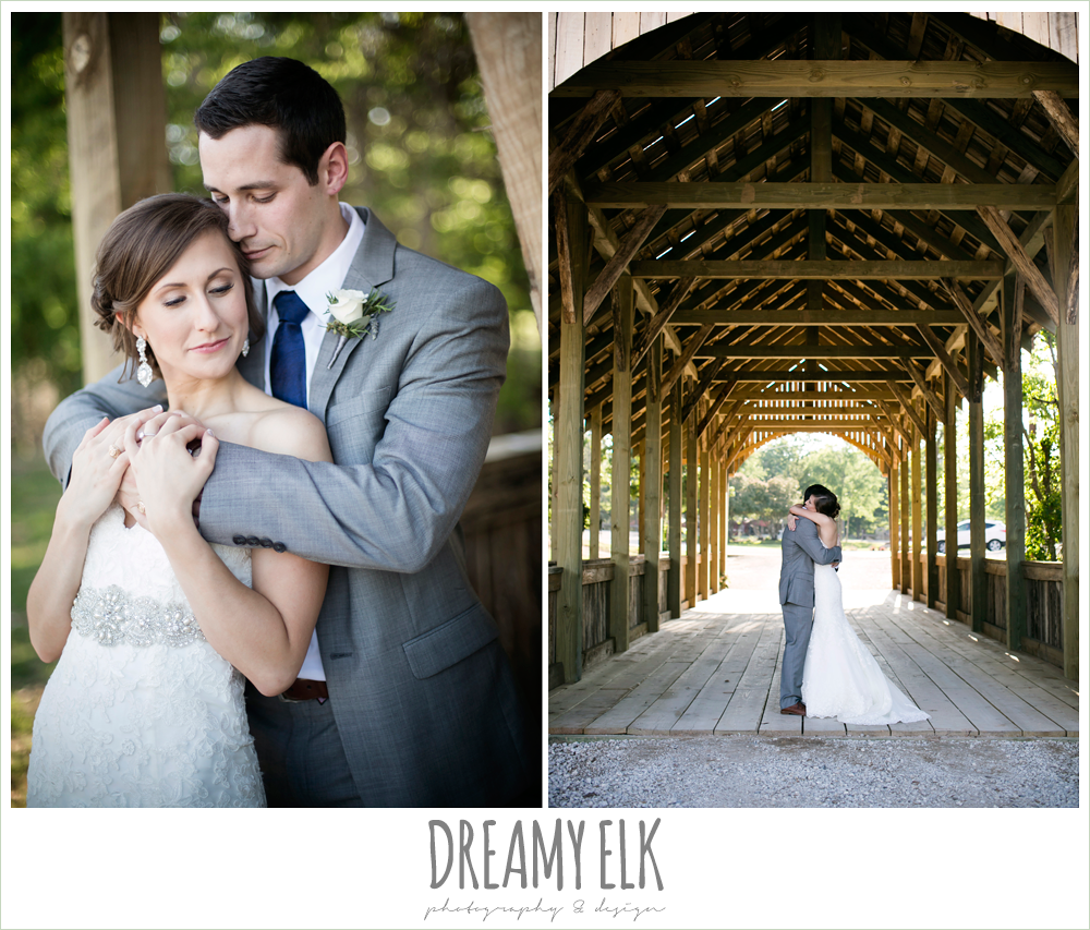 gray suit with navy tie, lace sweetheart mermaid wedding dress, rustic chic, spring wedding photo, big sky barn, montgomery, texas {dreamy elk photography and design}