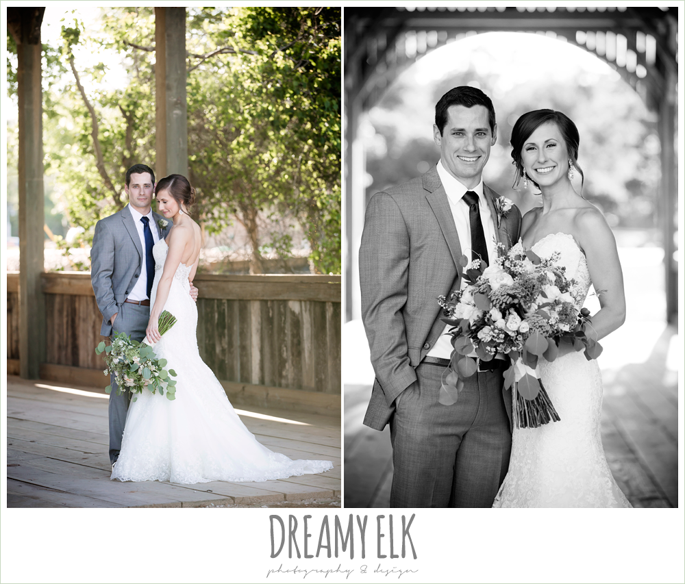 lace sweetheart mermaid wedding dress, blush and greenery wedding bouquet, carter's florist, rustic chic, spring wedding photo, big sky barn, montgomery, texas {dreamy elk photography and design}