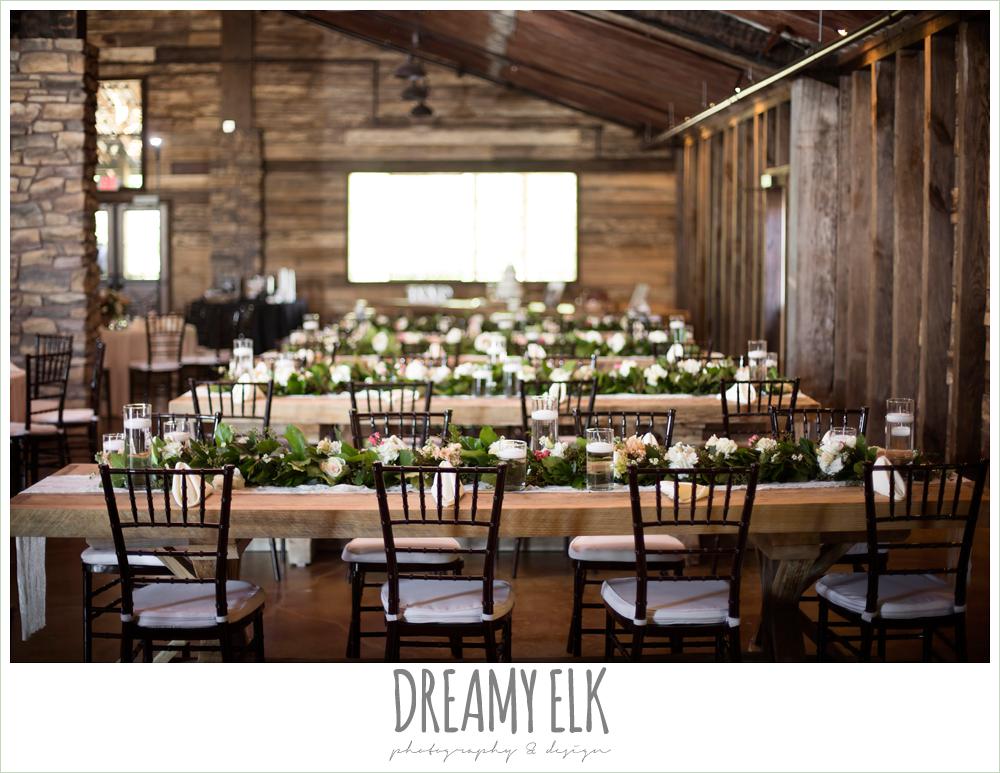 wedding reception decorations, rustic chic, spring wedding photo, big sky barn, montgomery, texas {dreamy elk photography and design}