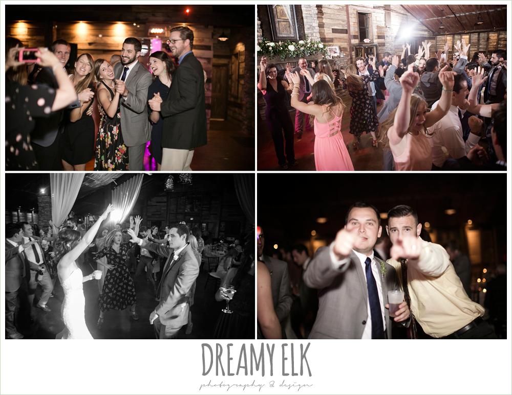guests dancing at wedding reception, rustic chic, spring wedding photo, big sky barn, montgomery, texas {dreamy elk photography and design}