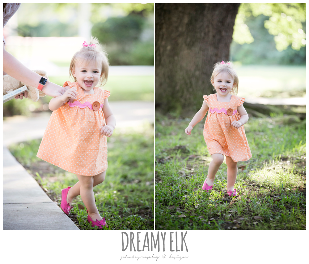 18 month old photo, photo of girl toddler running outside