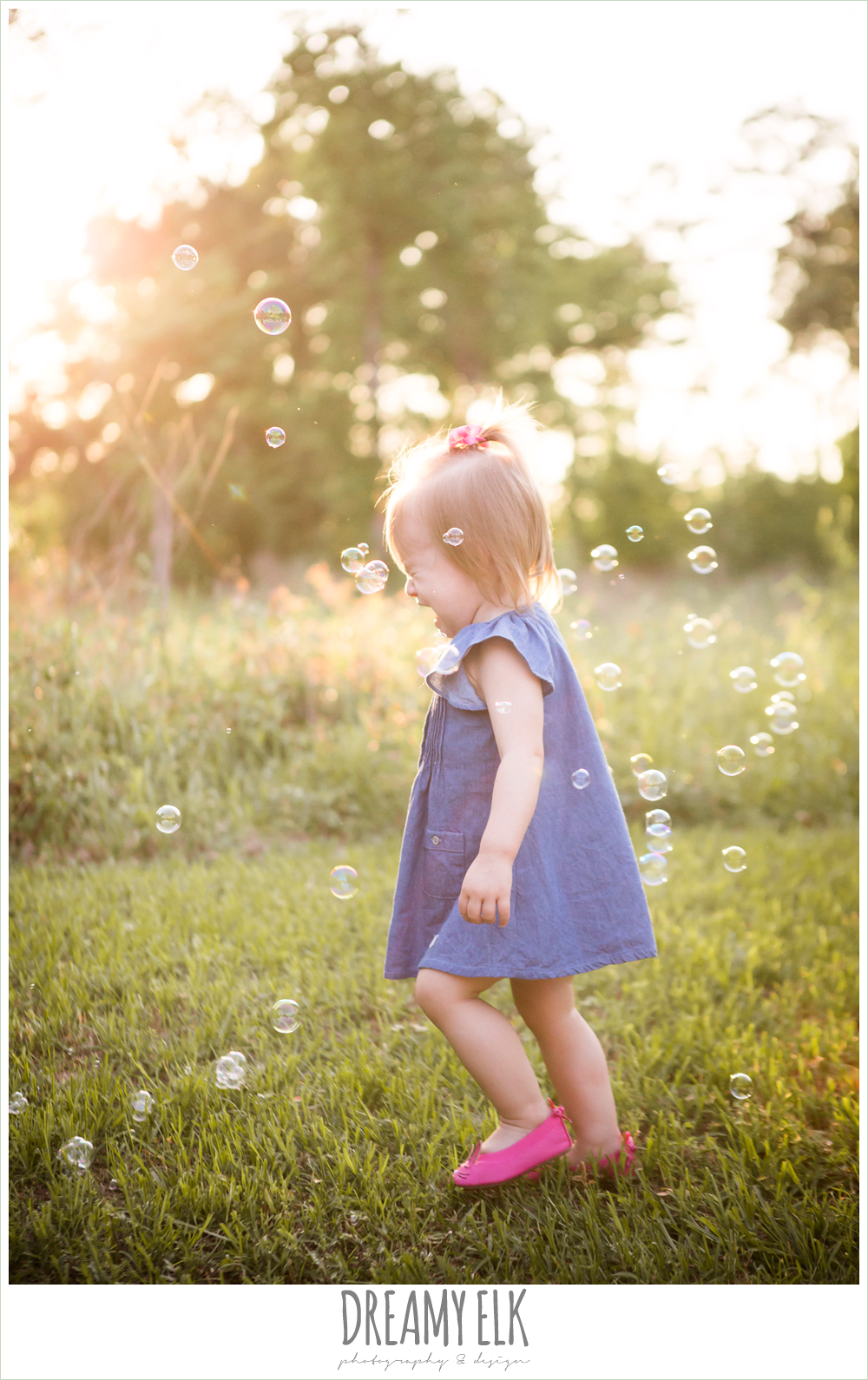 18 month old photo, photo of girl toddler outside crying with bubbles