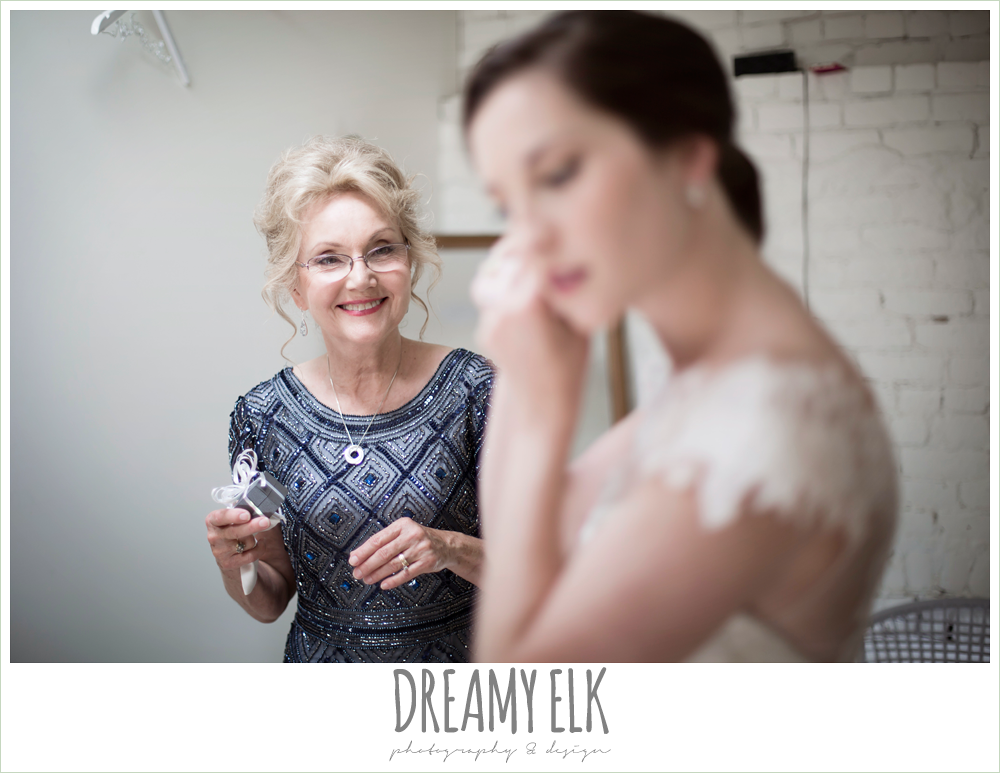 mother of the bride, bride putting on jewelry, one eleven east, silver sequin wedding, invitation suite, fourth of july wedding photo {dreamy elk photography and design}