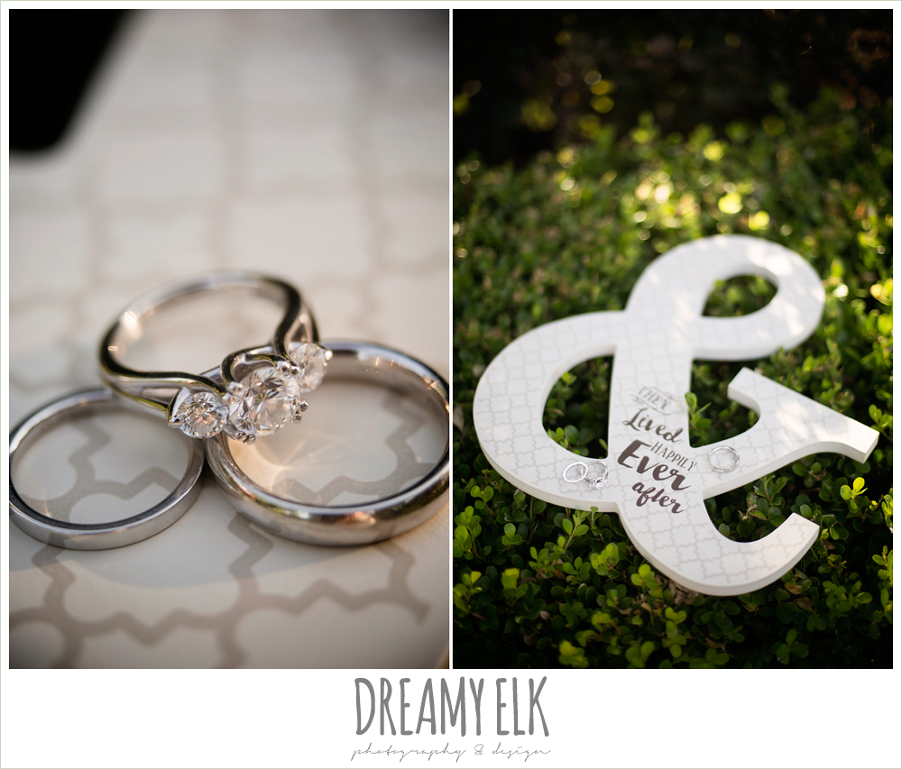 Byrnes Jewelers, wedding rings, three diamond engagement ring, july summer morning wedding, ashelynn manor, magnolia, texas {dreamy elk photography and design}
