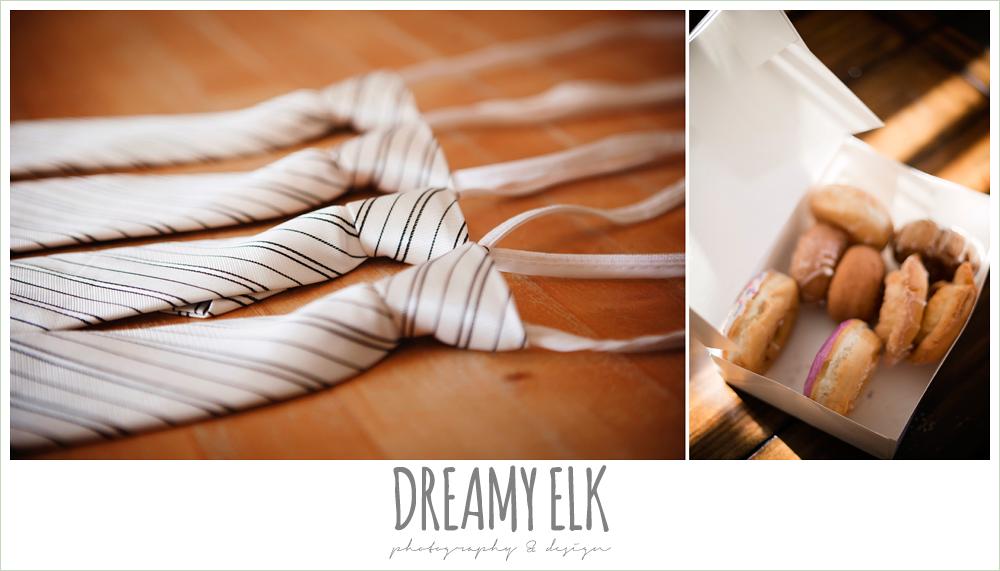 groomsmen ties and doughnuts, july summer morning wedding, ashelynn manor, magnolia, texas {dreamy elk photography and design}
