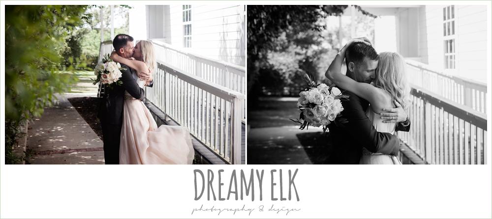 bride and groom kissing, july summer morning wedding, ashelynn manor, magnolia, texas {dreamy elk photography and design} photo