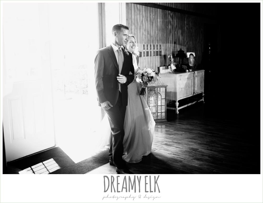 bride and groom, reception entrance, july summer morning wedding, ashelynn manor, magnolia, texas {dreamy elk photography and design} photo