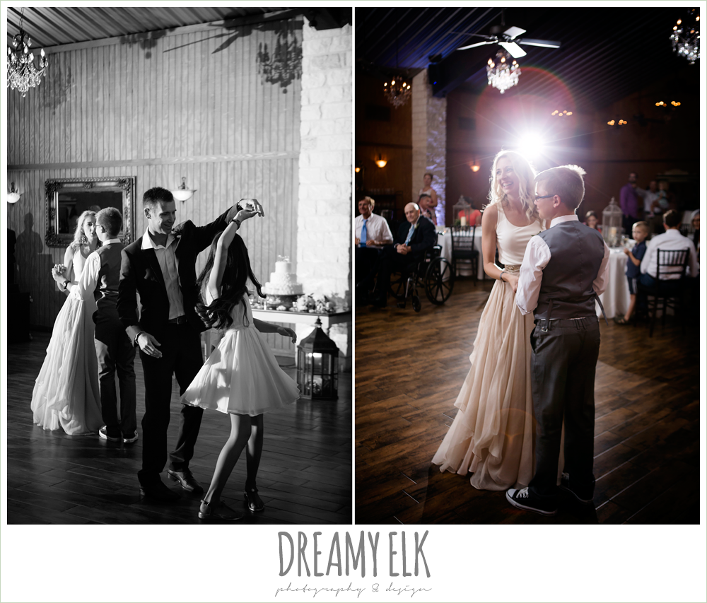 bride and groom with kids, family dance, july summer morning wedding, ashelynn manor, magnolia, texas {dreamy elk photography and design} photo
