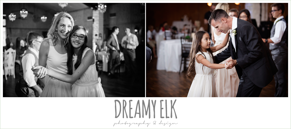 bride and groom with kids, family dance, wedding reception, july summer morning wedding, ashelynn manor, magnolia, texas {dreamy elk photography and design} photo