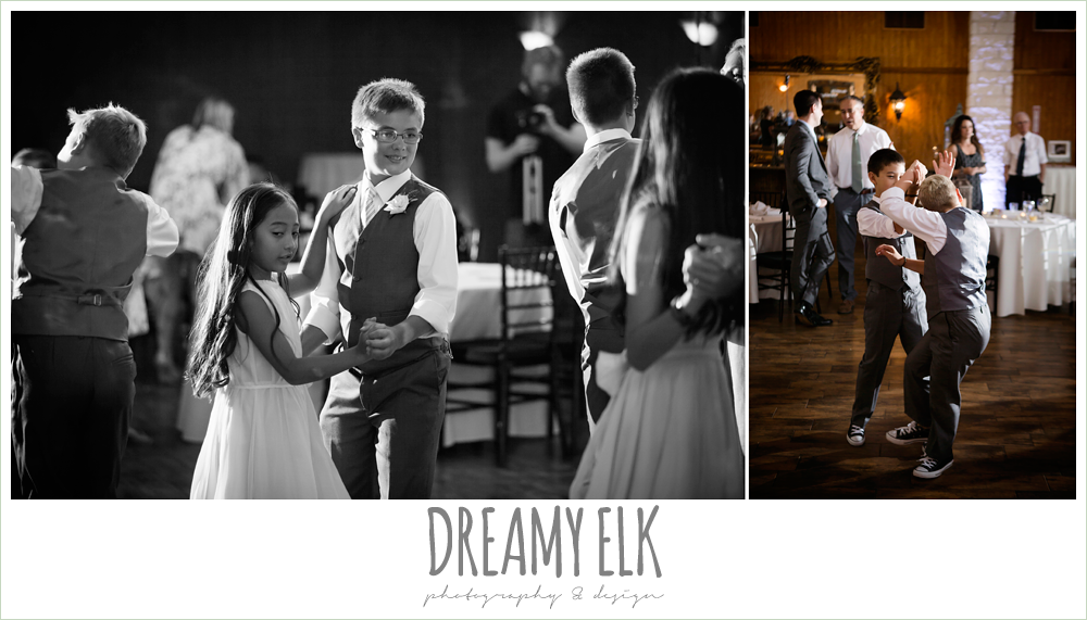 bride and groom with kids, family dance, wedding reception, kids dancing at wedding, july summer morning wedding, ashelynn manor, magnolia, texas {dreamy elk photography and design} photo