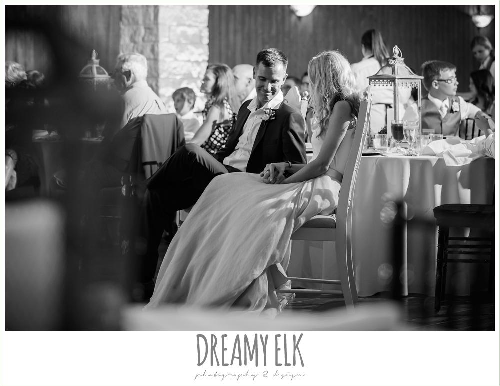 bride and groom at wedding reception, july summer morning wedding, ashelynn manor, magnolia, texas {dreamy elk photography and design} photo