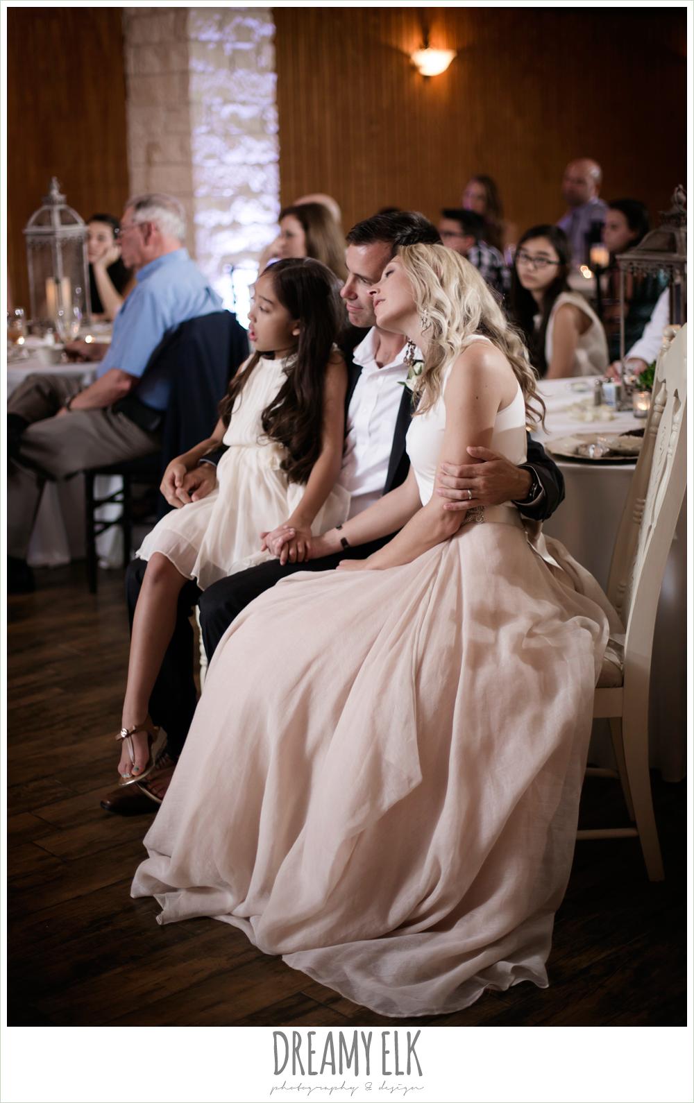 carol hannah kensington halter and blush skirt, bride and groom during wedding reception, july summer morning wedding, ashelynn manor, magnolia, texas {dreamy elk photography and design} photo