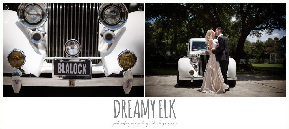 Monarch British Limousines, rolls royce wedding getaway car, july summer morning wedding, ashelynn manor, magnolia, texas {dreamy elk photography and design} photo