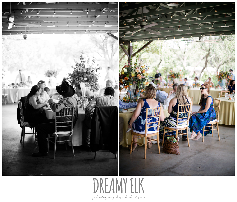 guest during wedding reception, colorful outdoor sunday morning brunch wedding, hyatt hill country club, san antonio wedding photo {dreamy elk photography and design}