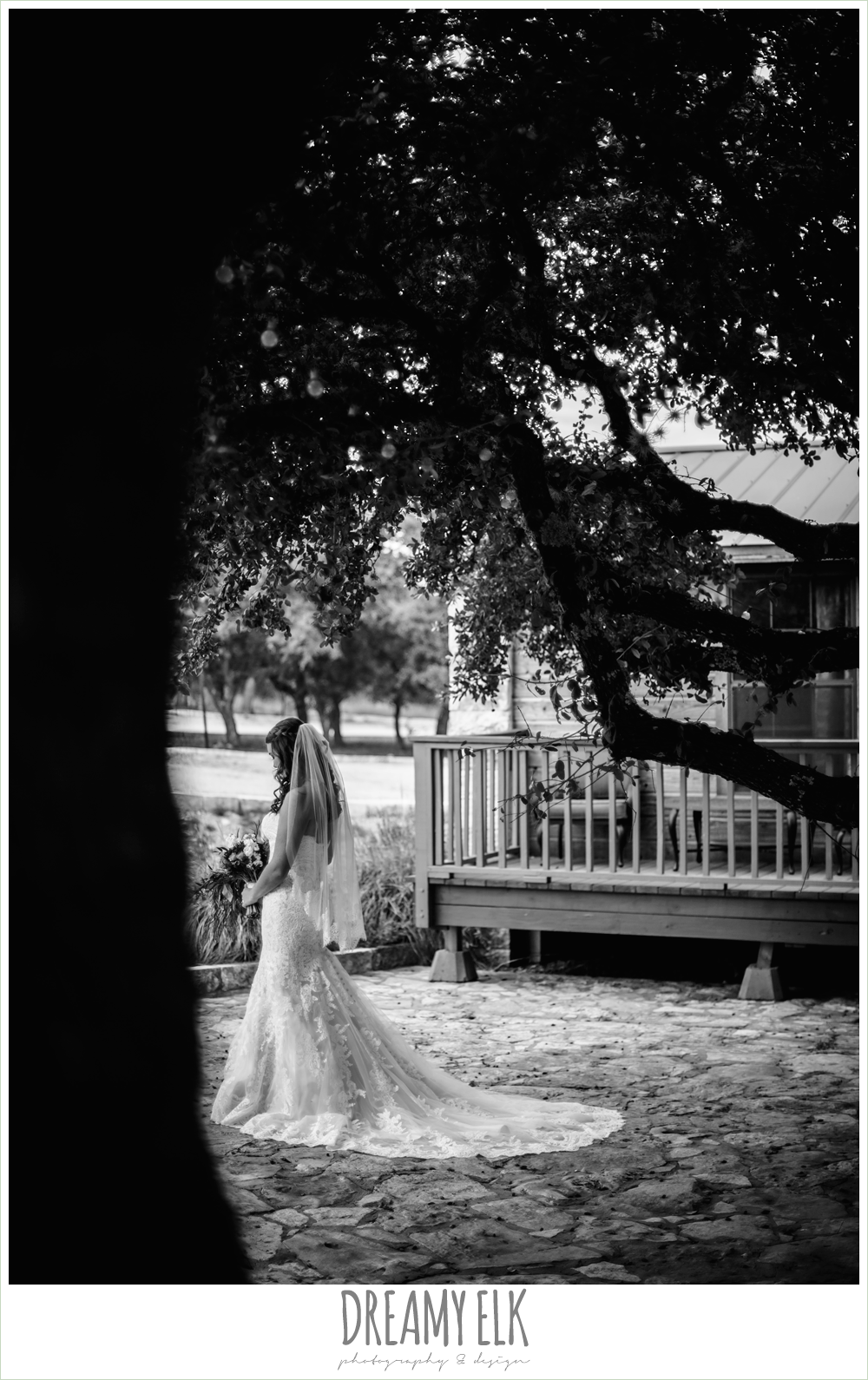 flower crown, sunflower fall bouquet, sweetheart strapless lace fit and flare wedding dress, wedding hair down, outdoor september bridal photo in a field, la hacienda, dripping springs, texas {dreamy elk photography and design}