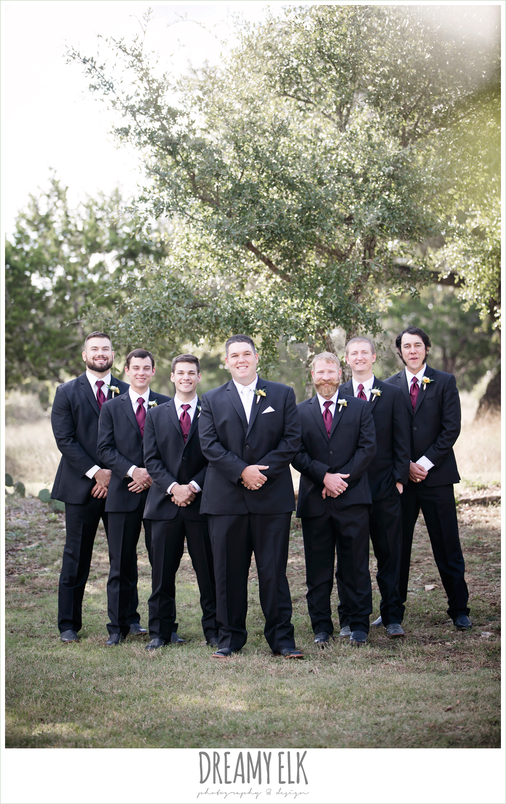 men's wearhouse, maroon and gold fall wedding photo, la hacienda, dripping springs, texas {dreamy elk photography and design}