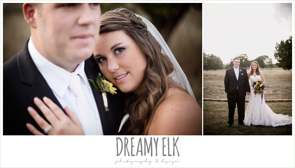 men's wearhouse, lustrebella, sunset bride and groom portraits, maroon and gold fall wedding photo, la hacienda, dripping springs, texas {dreamy elk photography and design}