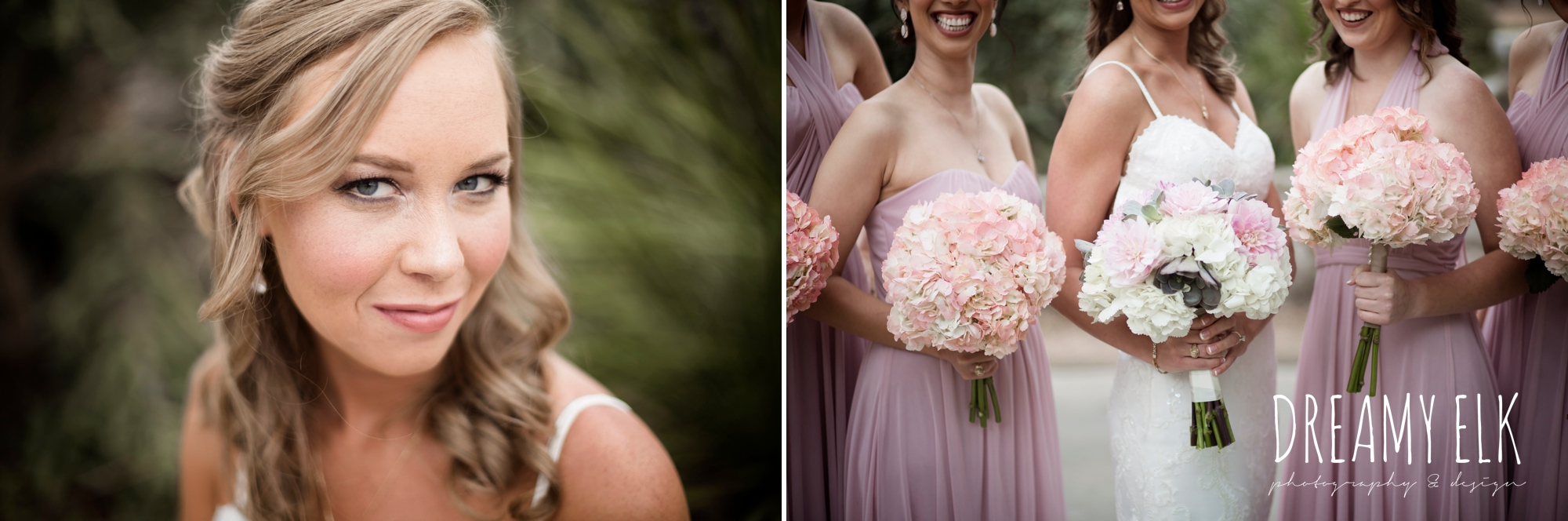 madame makeup and hair, bride and bridesmaids, mix and matched floor length blush bridesmaid dresses, heb blooms, cloudy march wedding photo, canyon springs golf club wedding, san antonio, texas {dreamy elk photography and design}