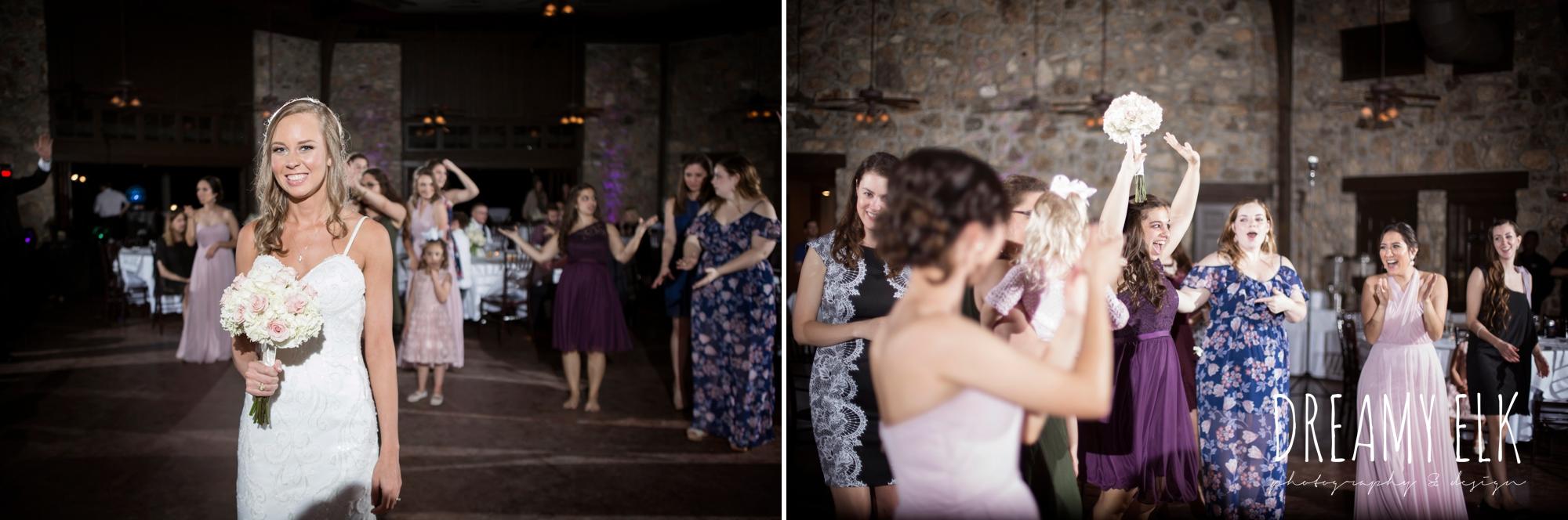 bouquet toss, cloudy march wedding photo, canyon springs golf club wedding, san antonio, texas {dreamy elk photography and design}