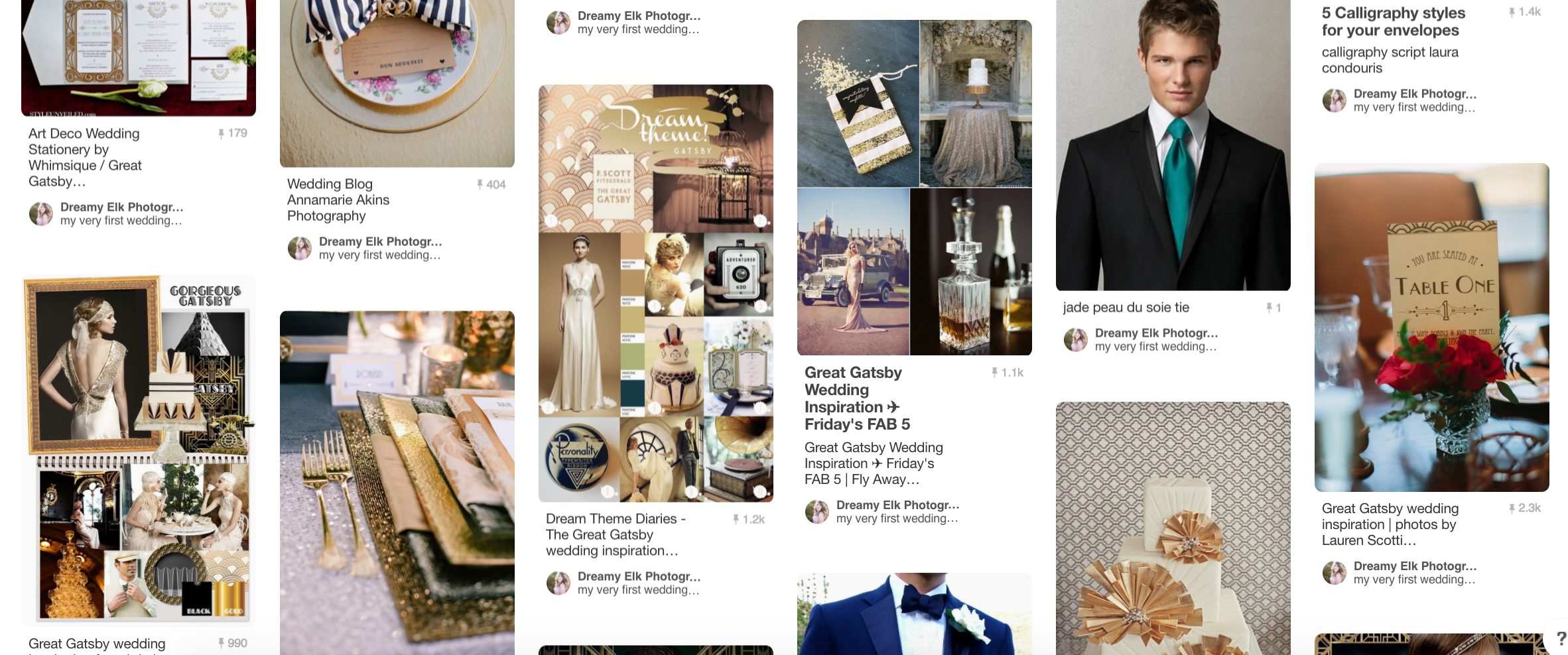A peek into my Pinterest wedding board!