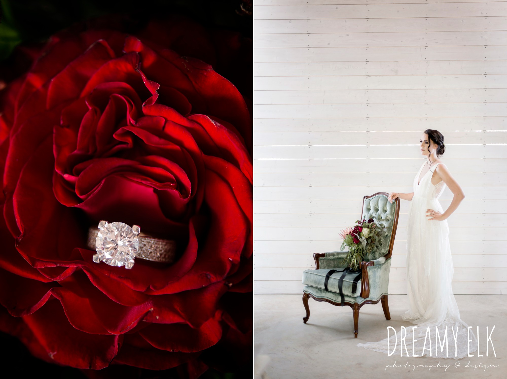 the cedars ranch, libby cole creations, saint isabel bridal, melange bridal, kirk root designs, moody rich delicate marfa inspired burgundy maroon black white spring styled wedding photo shoot {dreamy elk photography and design}