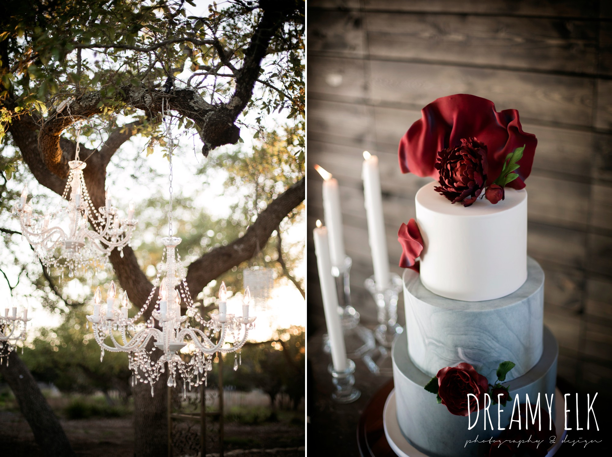 the cedars ranch, libby cole creations, iced cakes and confections, intelligent lighting design, moody rich delicate marfa inspired burgundy maroon black white spring styled wedding photo shoot {dreamy elk photography and design}