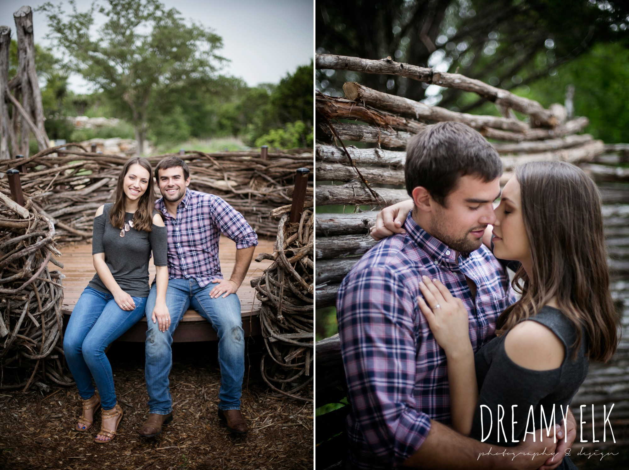 overcast cloudy day, spring engagement photo, ladybird johnson wildflower center, austin, texas {dreamy elk photography and design}