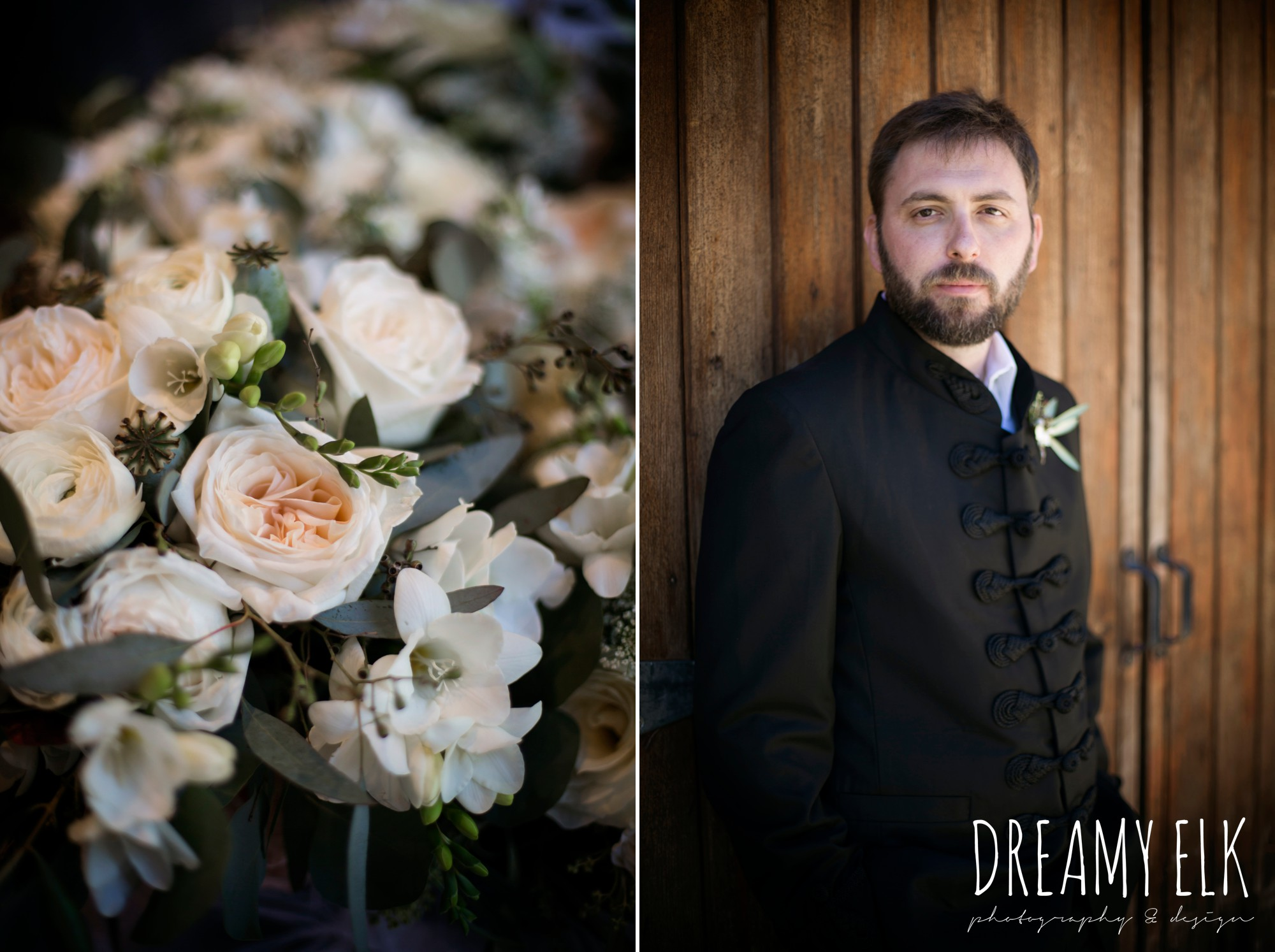 groom, traditional hungarian tux, outdoor spring april wedding photo, chapel dulcinea ceremony, thurman's mansion, dripping springs, texas {dreamy elk photography and design}