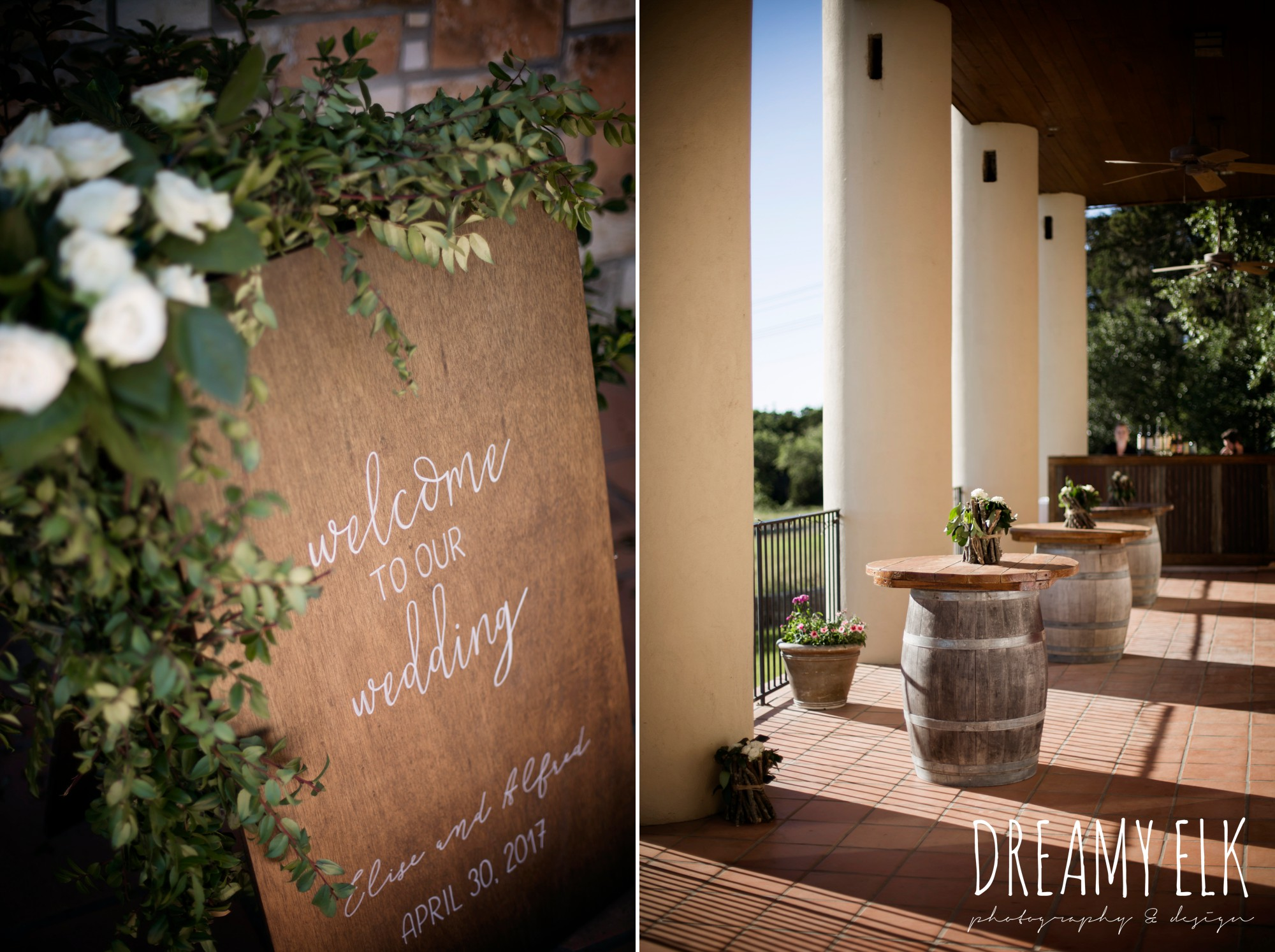 wooden wedding signs, calligraphy, outdoor spring april wedding photo, thurman's mansion, dripping springs, texas {dreamy elk photography and design}