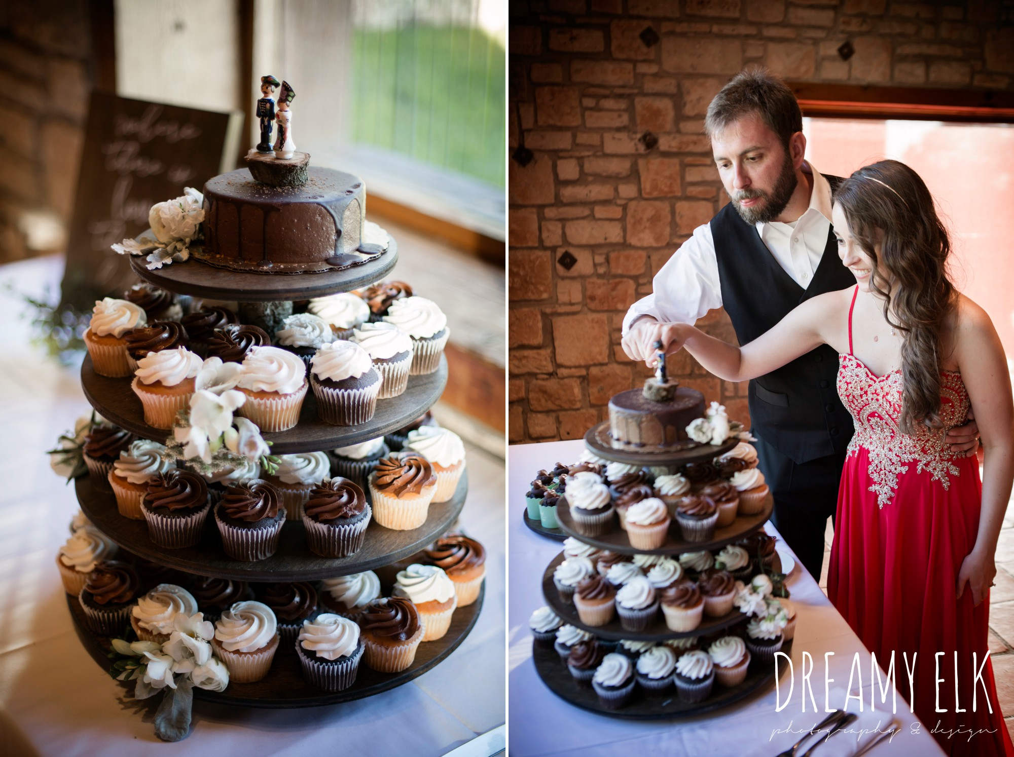 better bites bakery, cupcakes, hungarian cake topper, outdoor spring april wedding photo, thurman's mansion, dripping springs, texas {dreamy elk photography and design}
