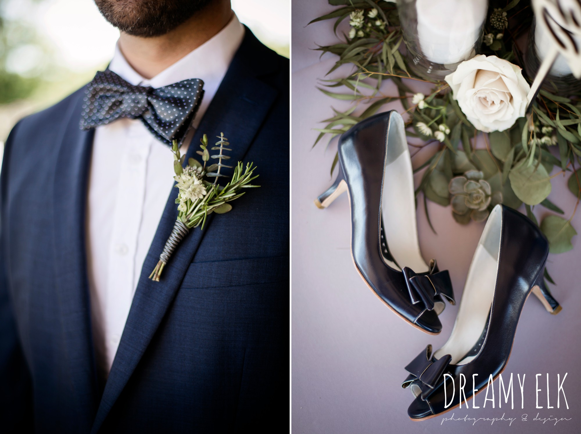 unforgettable floral, white and green succulent boutonniere, le lafrendi handmade shoes, outdoor april spring wedding photo, double creek crossing, college station, texas, austin wedding photographer {dreamy elk photography and design}