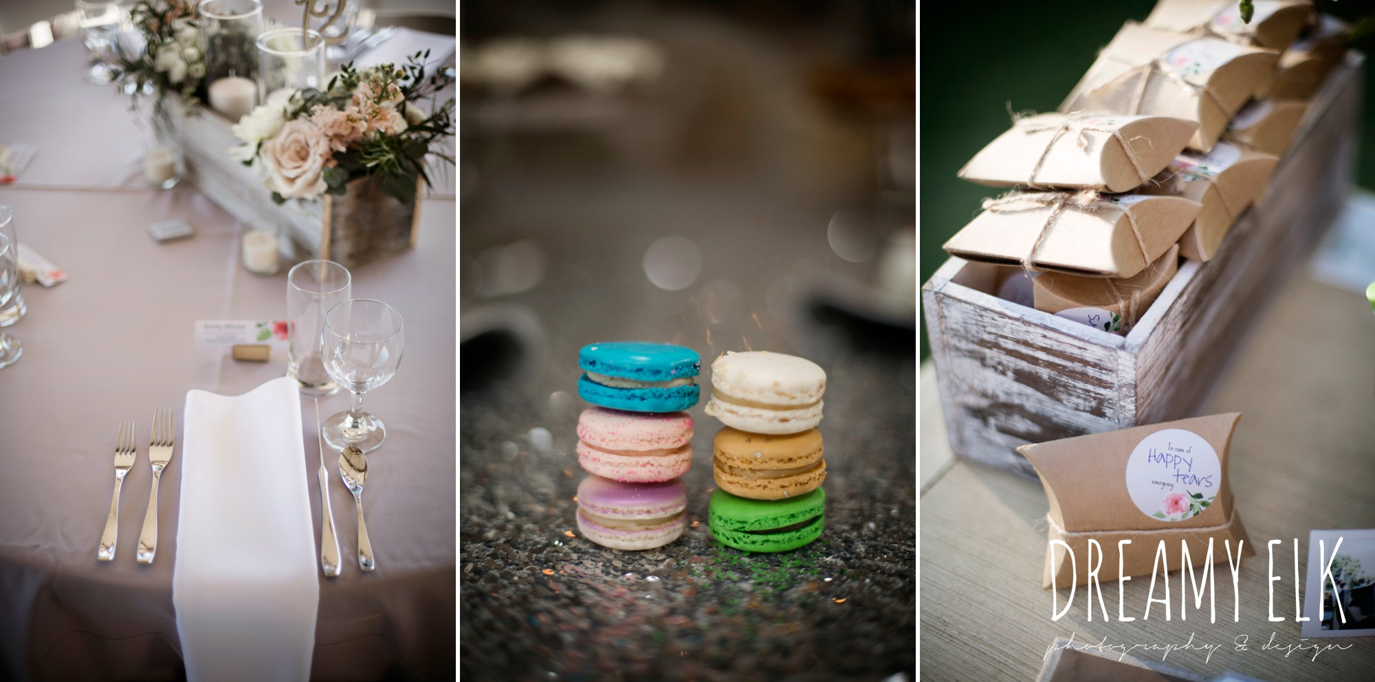 unforgettable floral, white and green succulent wedding reception table centerpieces, details party rentals, sucre macarons, outdoor april spring wedding photo, double creek crossing, college station, texas, austin wedding photographer {dreamy elk photography and design}