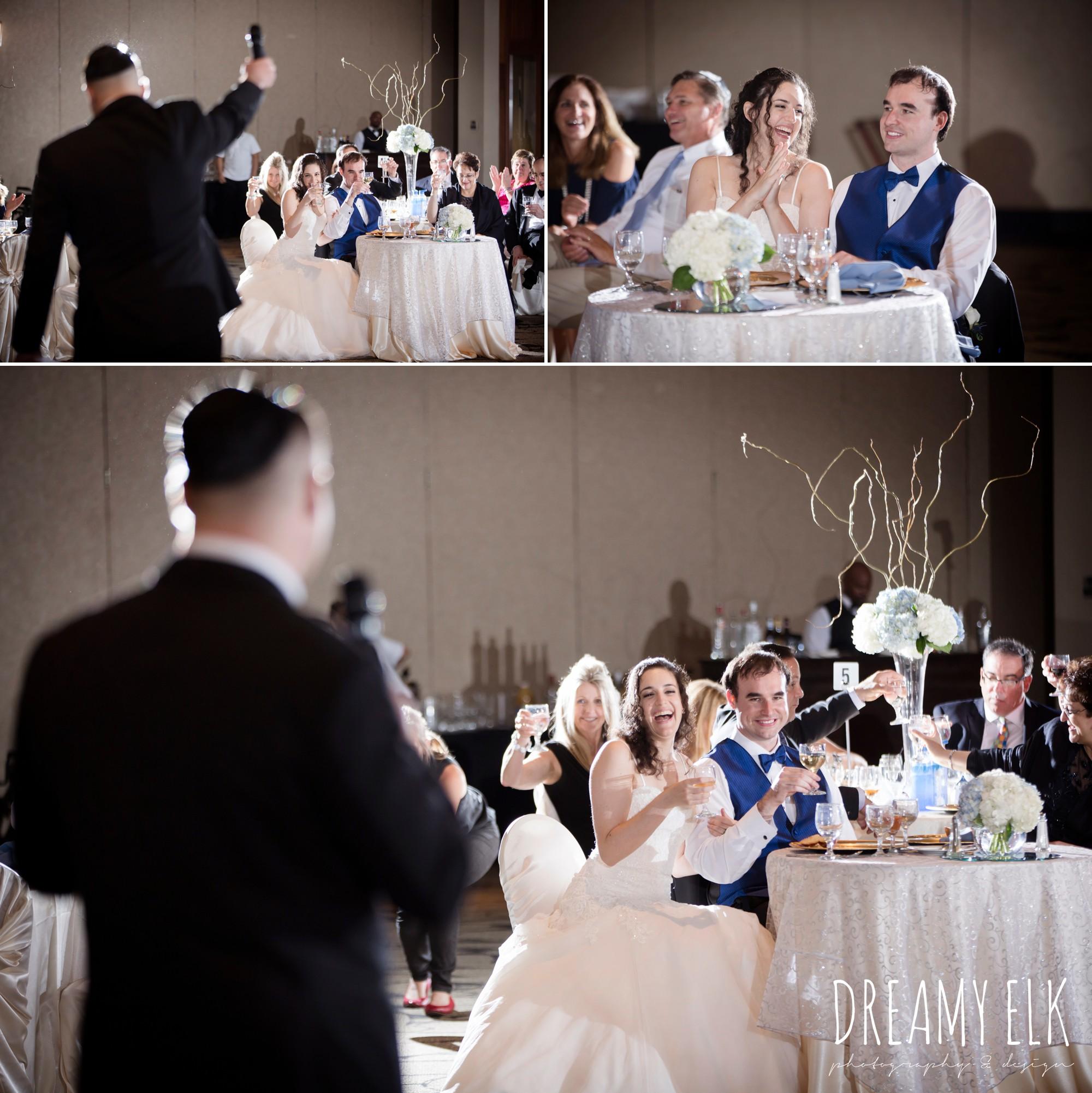 toasts at wedding reception, summer june jewish wedding photo {dreamy elk photography and design}
