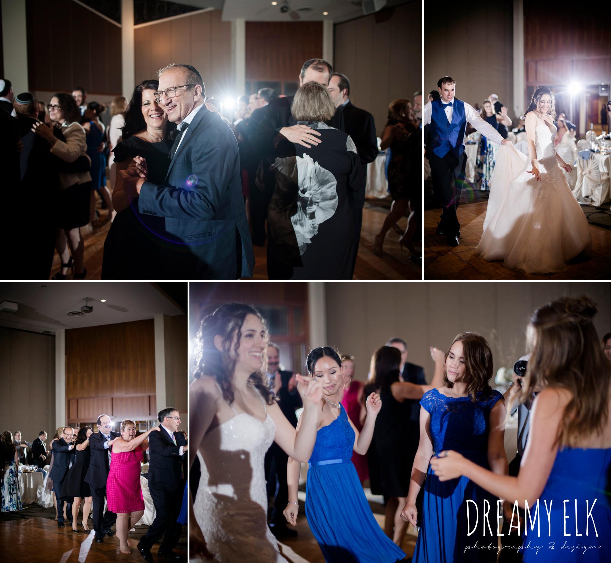guests dancing at wedding reception, summer june jewish wedding photo {dreamy elk photography and design}
