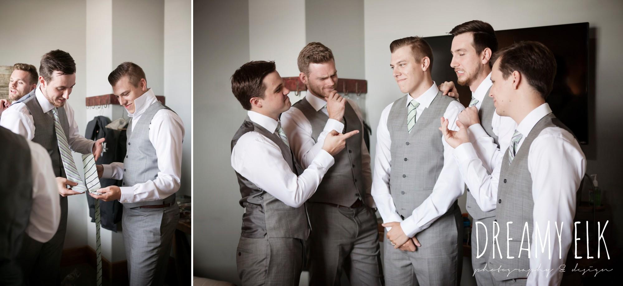 funny groomsmen photo, summer july wedding photo, canyonwood ridge, dripping springs, texas {dreamy elk photography and design}