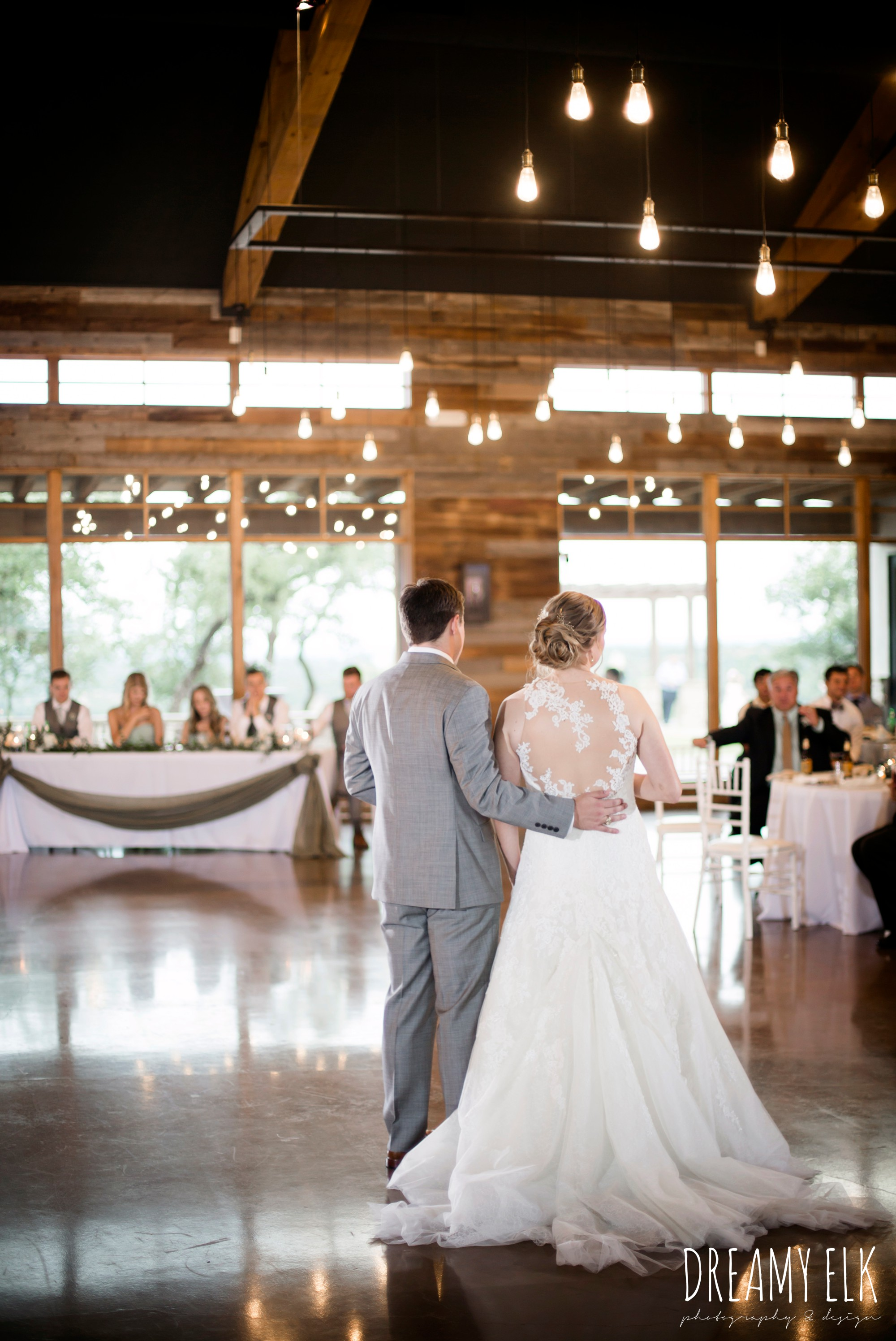 indoor wedding reception, summer july wedding photo, canyonwood ridge, dripping springs, texas {dreamy elk photography and design}