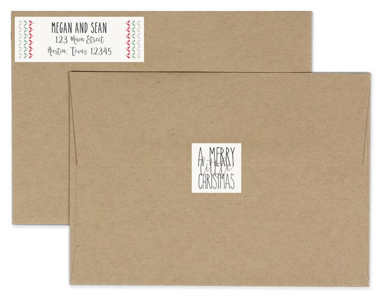 Christmas Return Address Labels.Merry Little Christmas Return Address Labels Envelope Seals Dreamy Elk Photography Design Llc