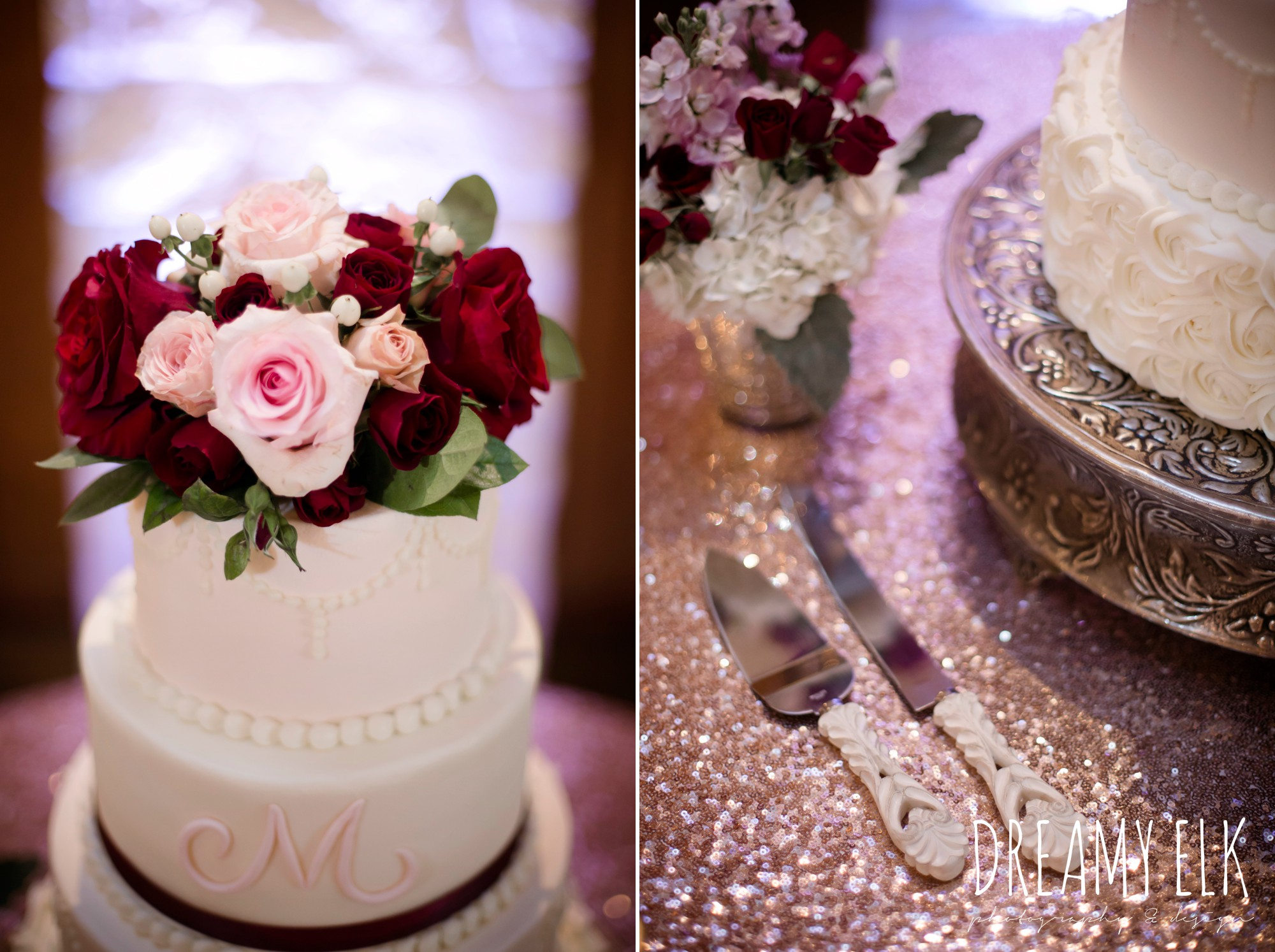 barcelona cakes, four tier white wedding cake, september wedding photo, ashelynn manor, magnolia, texas, austin texas wedding photographer {dreamy elk photography and design}