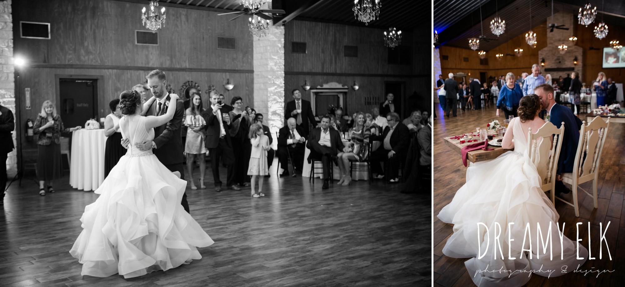 bride and groom first dance, fall wedding, gold and navy wedding photo, ashelynn manor, austin texas wedding photographer, dreamy elk photography and design, emily ross